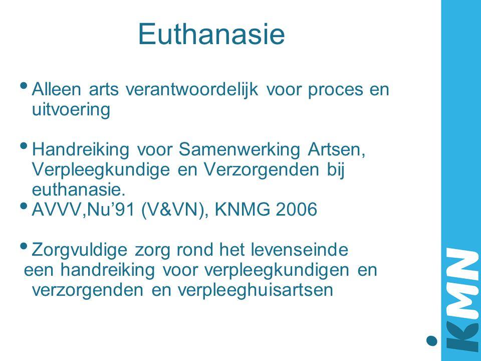 Euthanasie Alleen arts verantwoordelijk voor proces en uitvoering