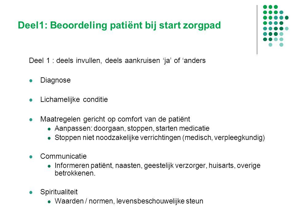 Deel1: Beoordeling patiënt bij start zorgpad