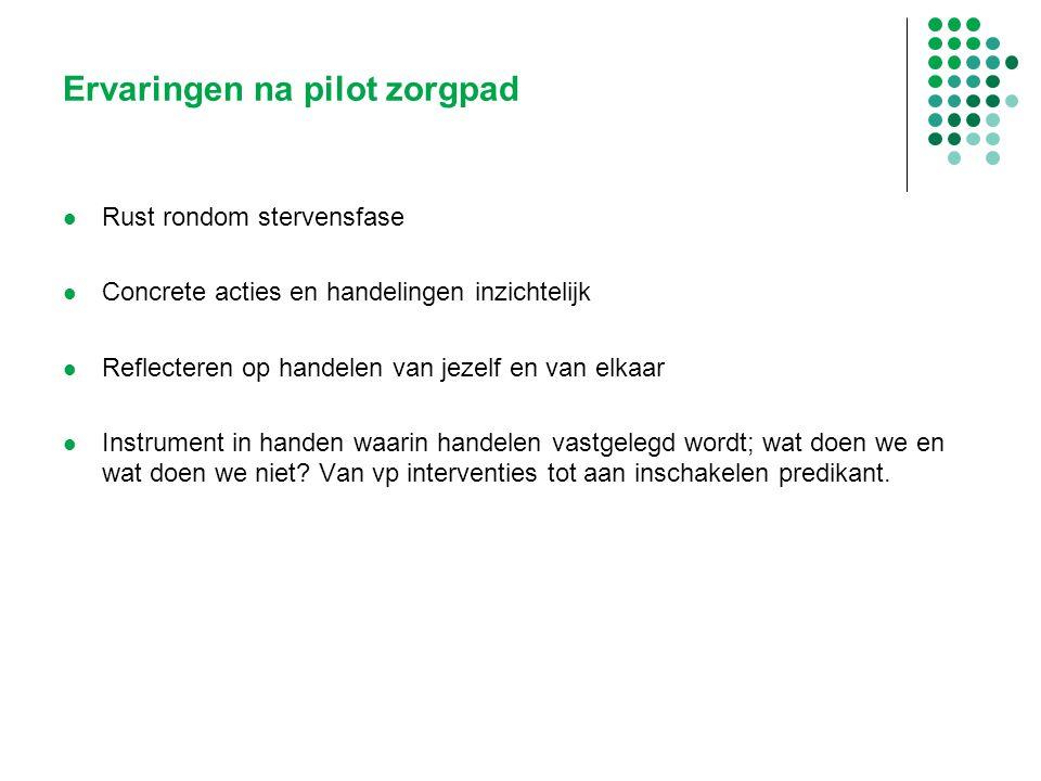 Ervaringen na pilot zorgpad