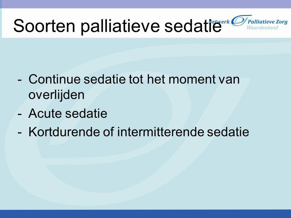 Soorten palliatieve sedatie