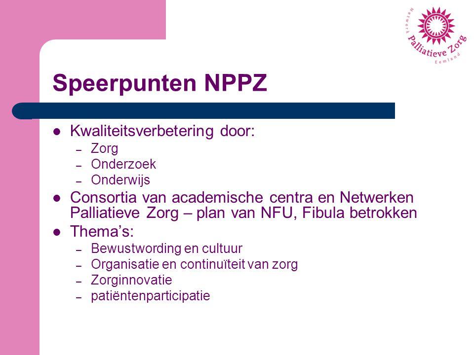 Speerpunten NPPZ Kwaliteitsverbetering door:
