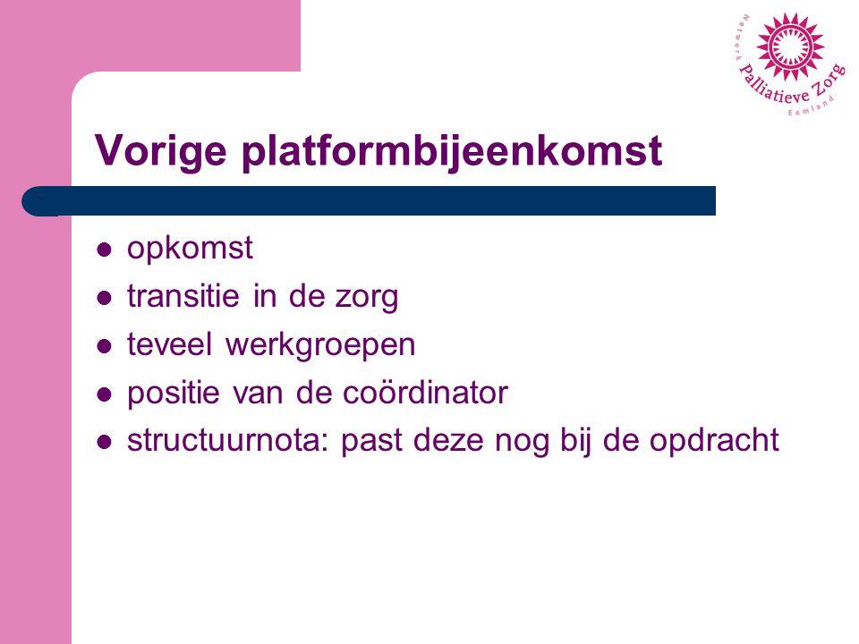 Vorige platformbijeenkomst