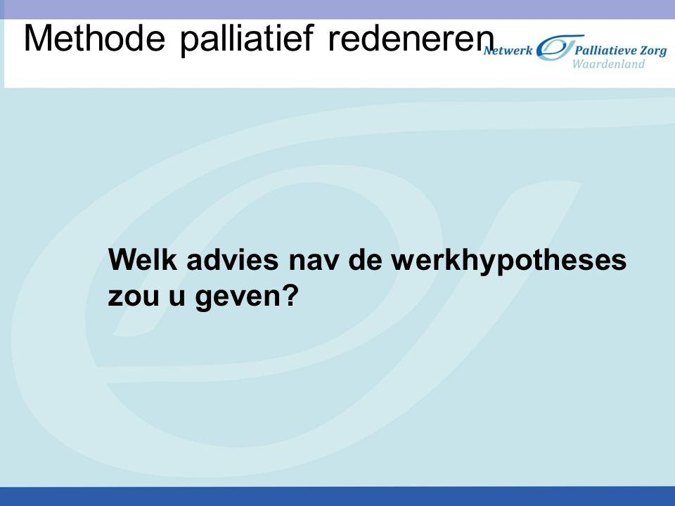 Methode palliatief redeneren