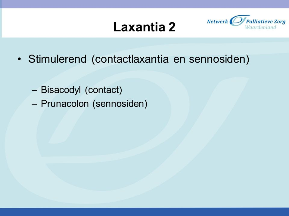 Laxantia 2 Stimulerend (contactlaxantia en sennosiden)