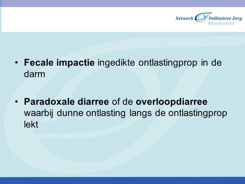 Fecale impactie ingedikte ontlastingprop in de darm
