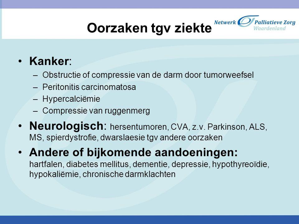Oorzaken tgv ziekte Kanker: