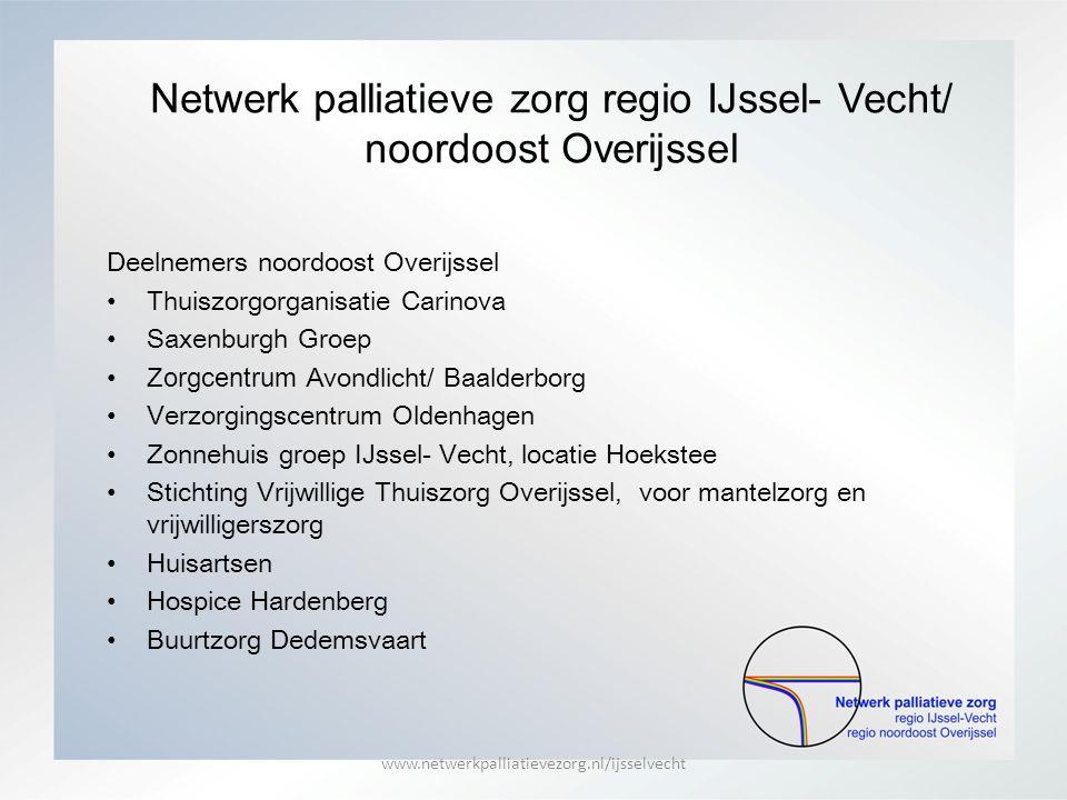 Netwerk palliatieve zorg regio IJssel- Vecht/ noordoost Overijssel