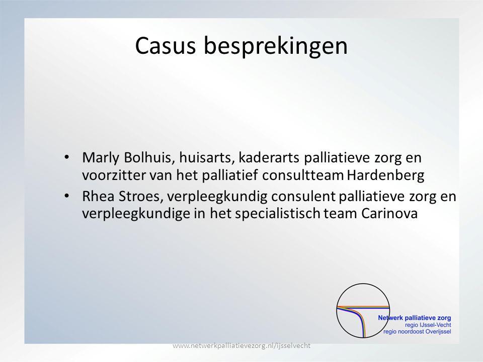 Casus besprekingen Marly Bolhuis, huisarts, kaderarts palliatieve zorg en voorzitter van het palliatief consultteam Hardenberg.