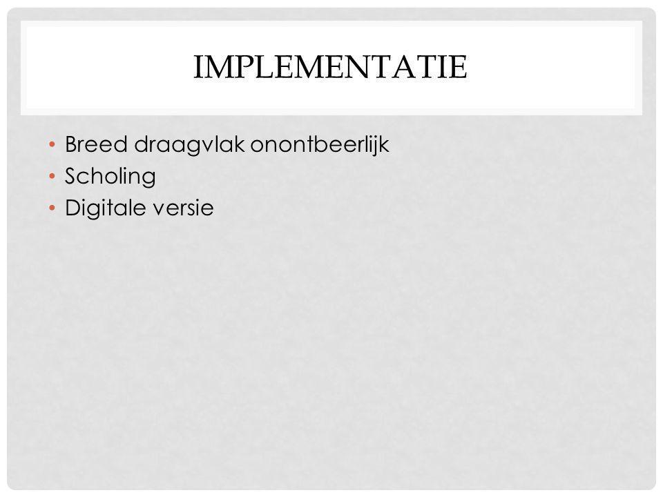 implementatie Breed draagvlak onontbeerlijk Scholing Digitale versie
