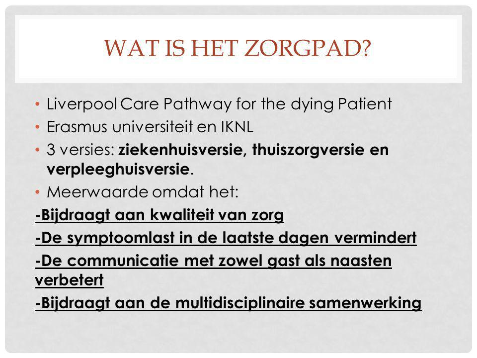 Wat is het zorgpad Liverpool Care Pathway for the dying Patient