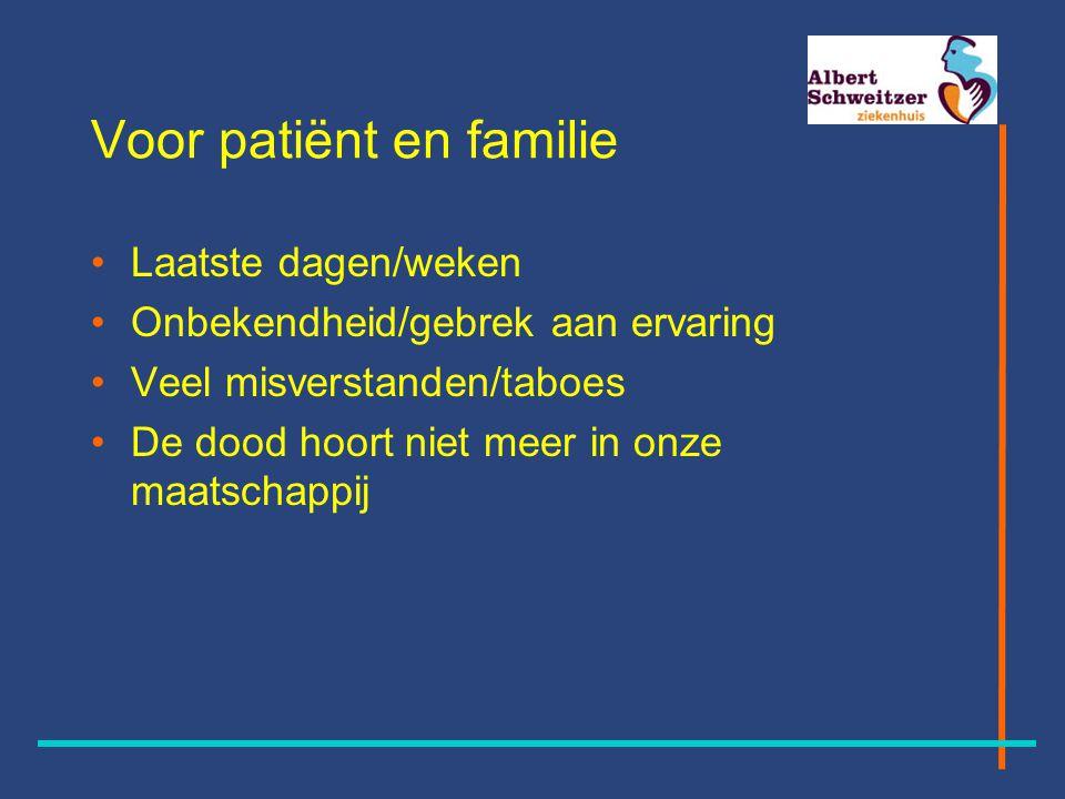 Voor patiënt en familie