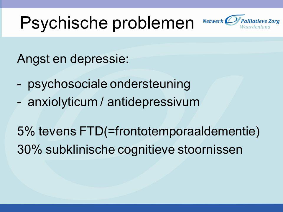 Psychische problemen Angst en depressie: psychosociale ondersteuning
