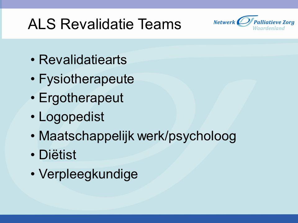 ALS Revalidatie Teams Revalidatiearts Fysiotherapeute Ergotherapeut