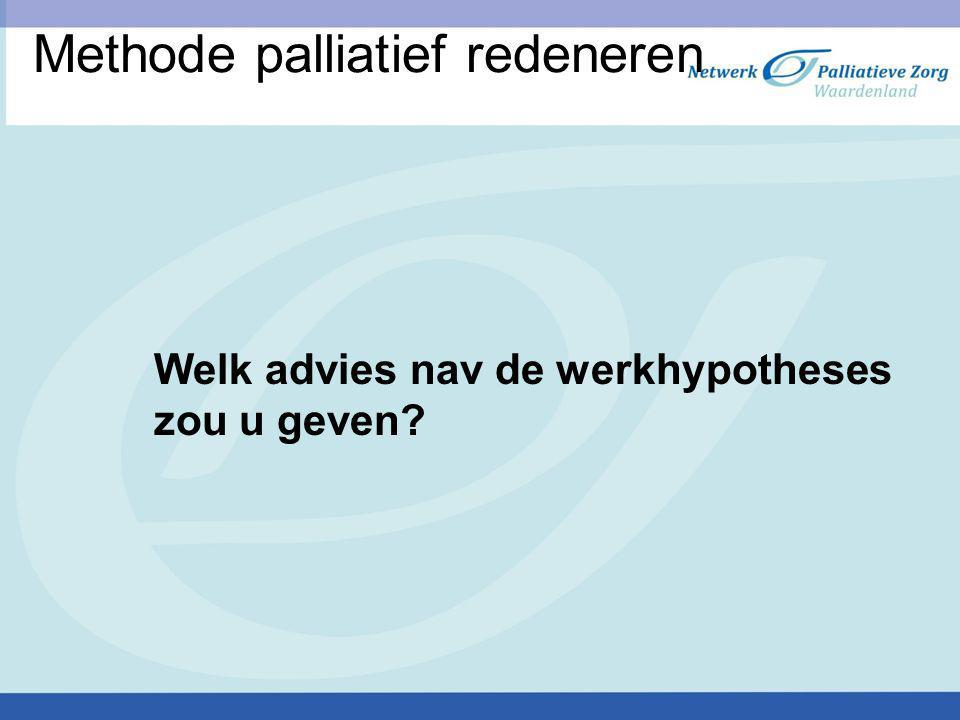 Methode palliatief redeneren