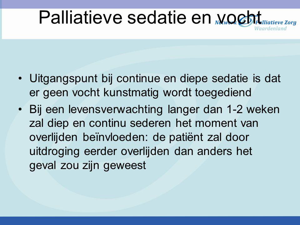 Palliatieve sedatie en vocht