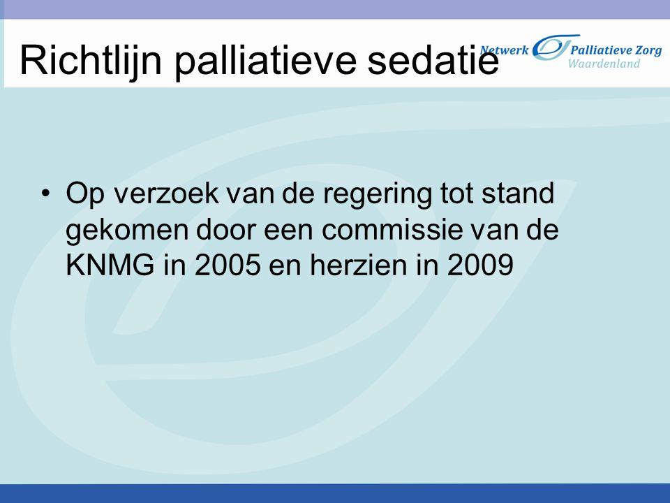 Richtlijn palliatieve sedatie