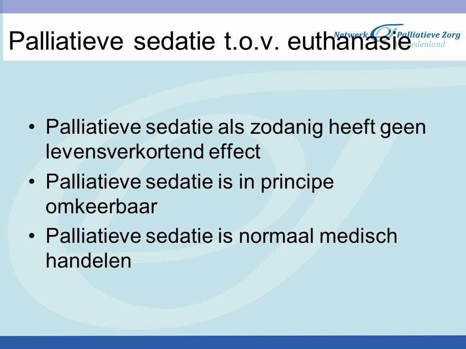 Palliatieve sedatie t.o.v. euthanasie