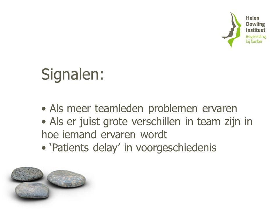 Signalen: Als meer teamleden problemen ervaren