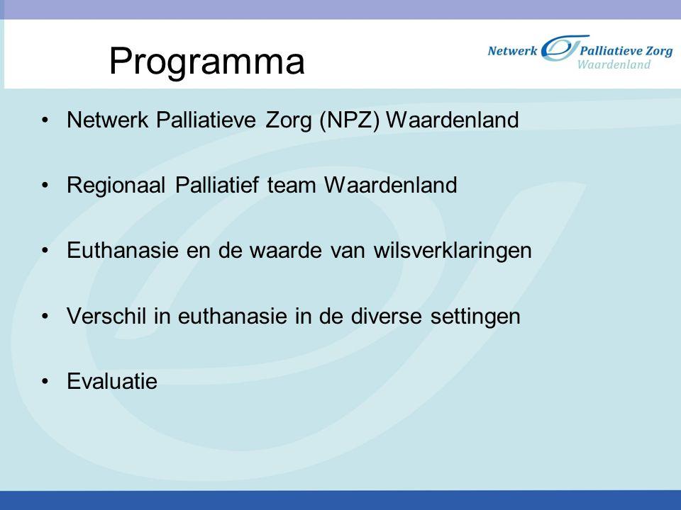 Programma Netwerk Palliatieve Zorg (NPZ) Waardenland