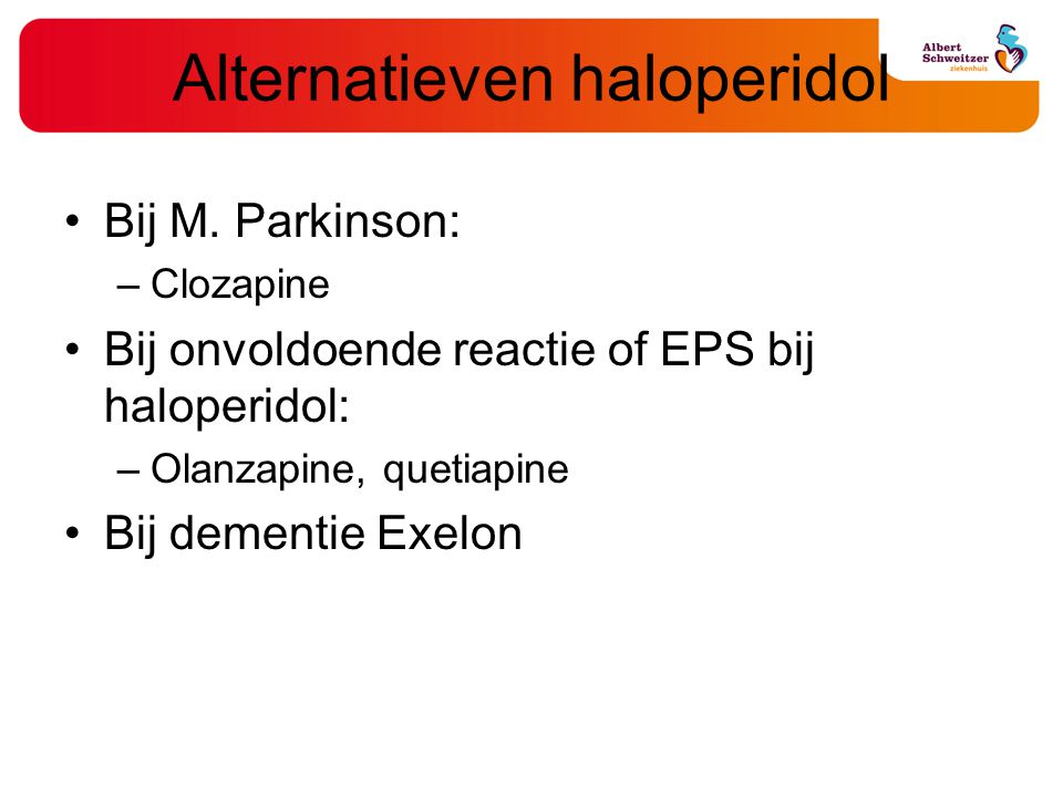 Alternatieven haloperidol