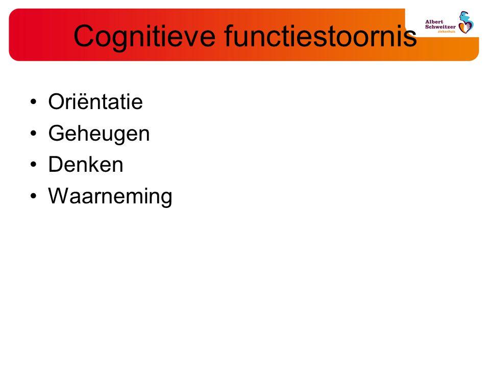 Cognitieve functiestoornis