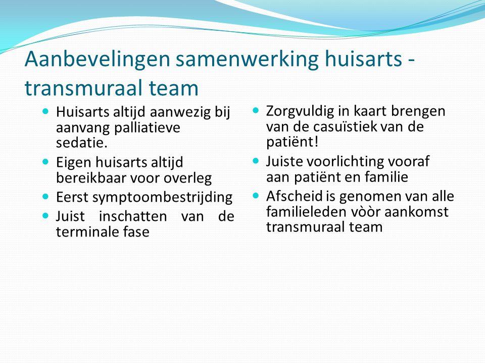 Aanbevelingen samenwerking huisarts - transmuraal team