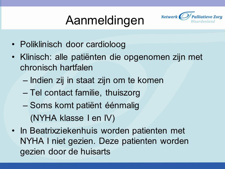 Aanmeldingen Poliklinisch door cardioloog