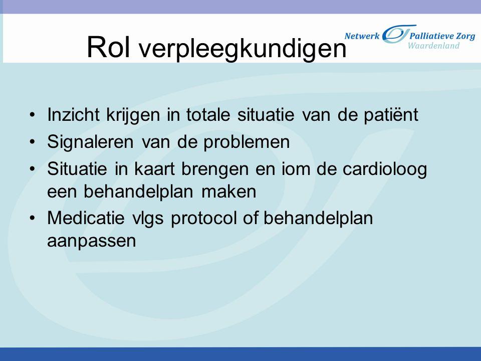 Rol verpleegkundigen Inzicht krijgen in totale situatie van de patiënt