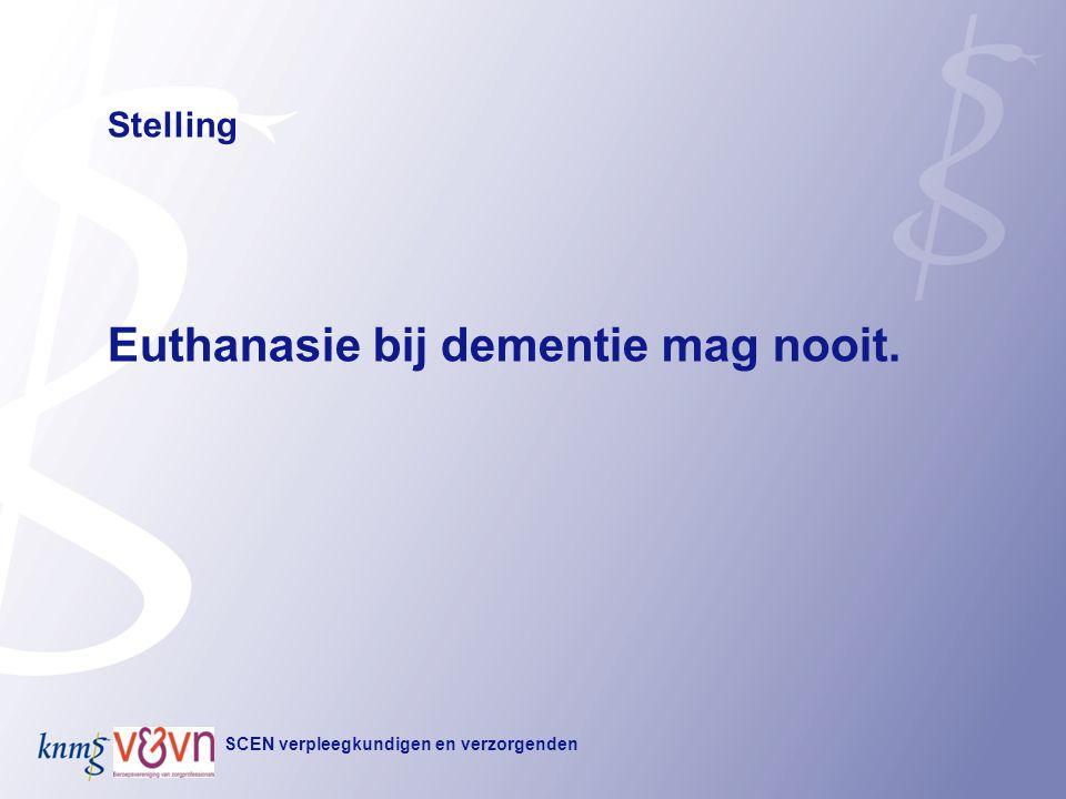Euthanasie bij dementie mag nooit.