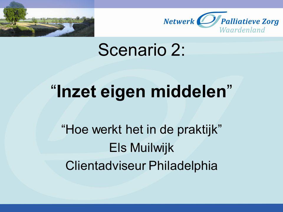 Scenario 2: Inzet eigen middelen