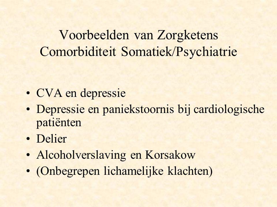 Voorbeelden van Zorgketens Comorbiditeit Somatiek/Psychiatrie