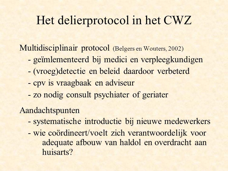 Het delierprotocol in het CWZ