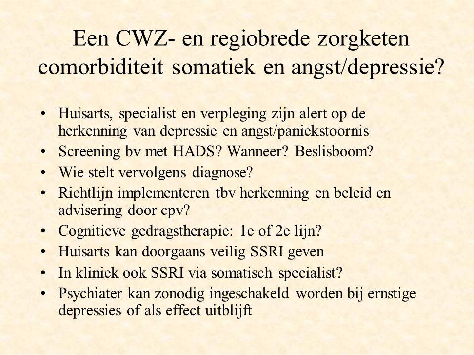 Een CWZ- en regiobrede zorgketen comorbiditeit somatiek en angst/depressie