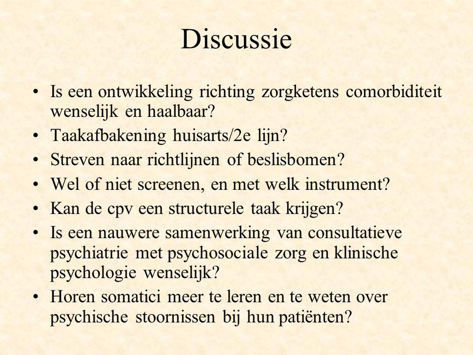Discussie Is een ontwikkeling richting zorgketens comorbiditeit wenselijk en haalbaar Taakafbakening huisarts/2e lijn