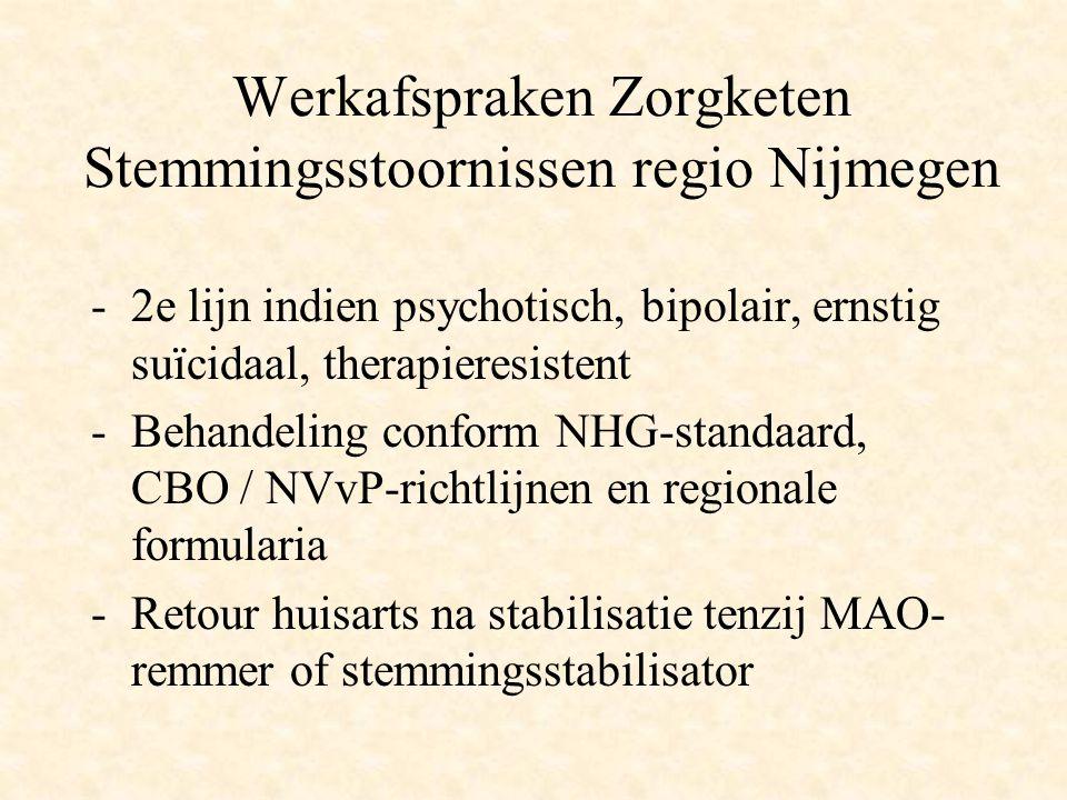 Werkafspraken Zorgketen Stemmingsstoornissen regio Nijmegen