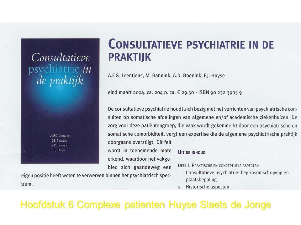 Hoofdstuk 6 Complexe patienten Huyse Slaets de Jonge