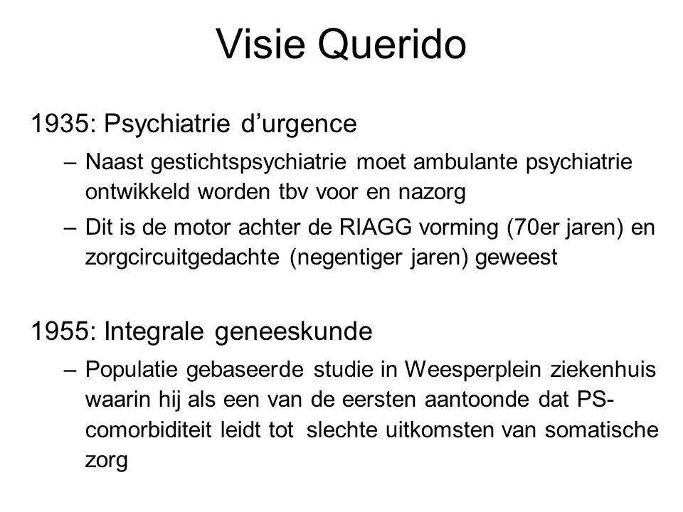 Visie Querido 1935: Psychiatrie d'urgence 1955: Integrale geneeskunde