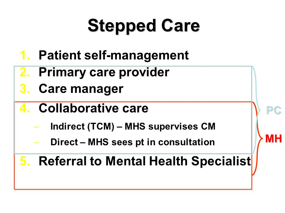 Stepped Care Patient self-management Primary care provider