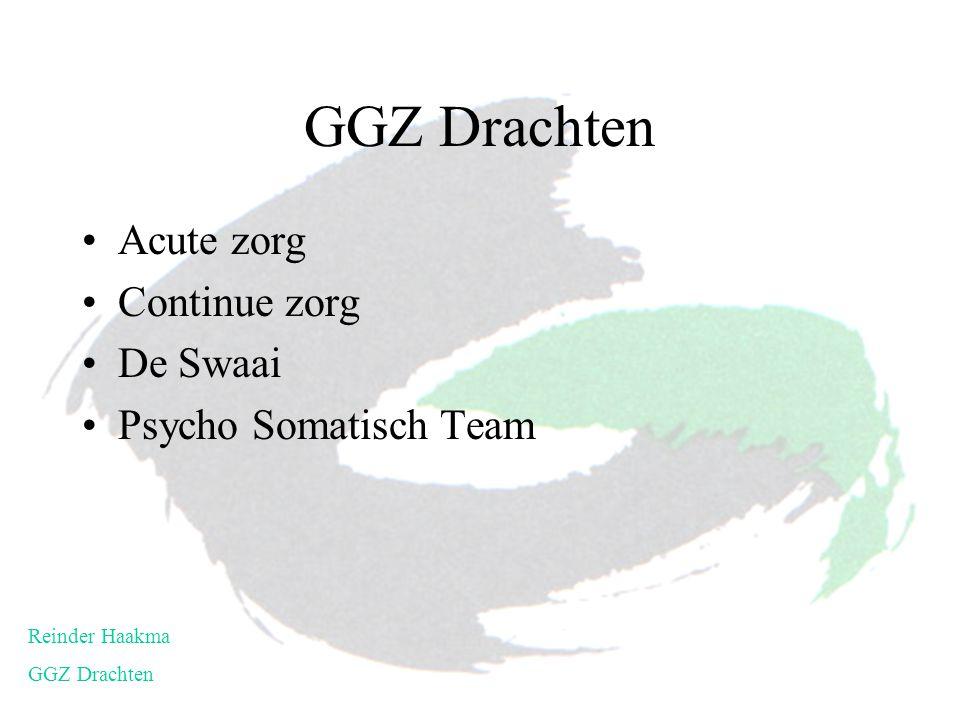 GGZ Drachten Acute zorg Continue zorg De Swaai Psycho Somatisch Team