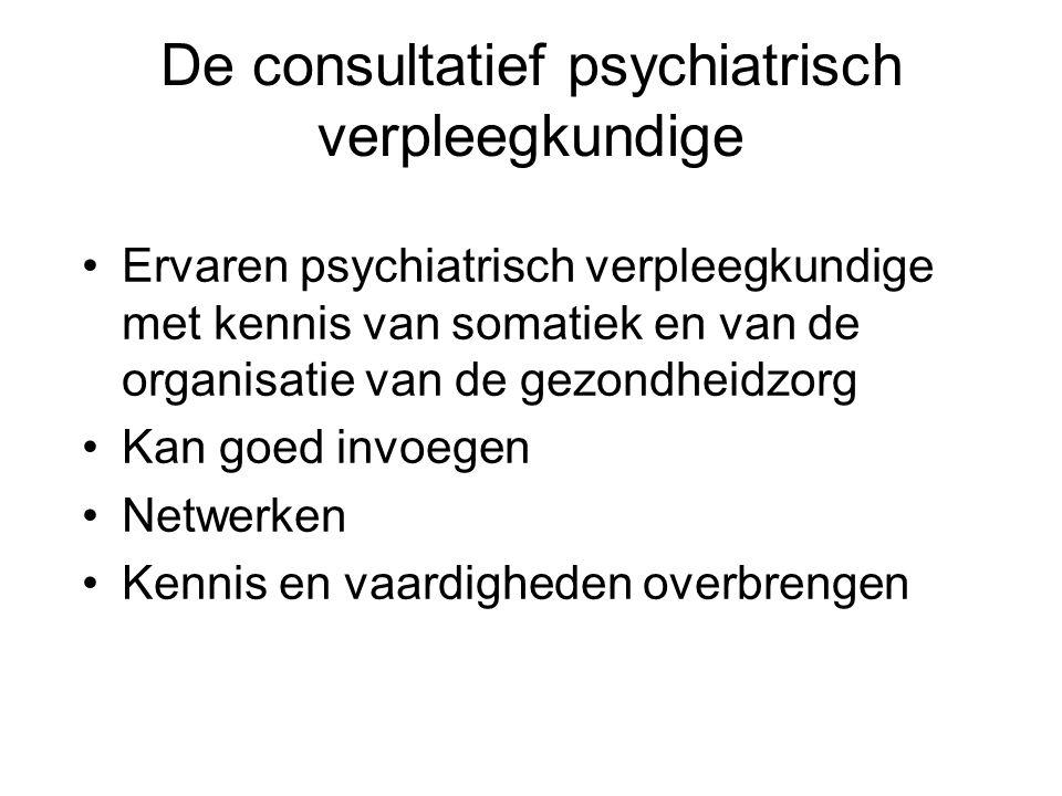De consultatief psychiatrisch verpleegkundige