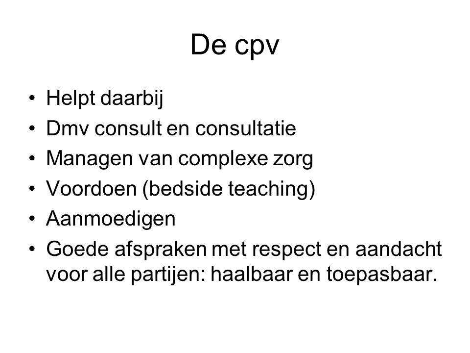 De cpv Helpt daarbij Dmv consult en consultatie