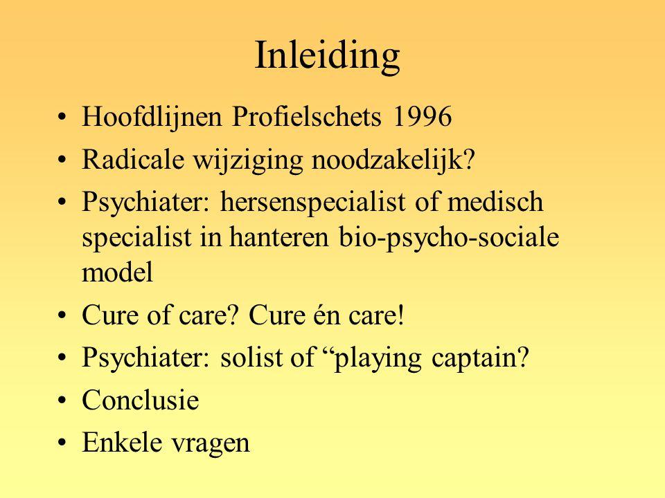 Inleiding Hoofdlijnen Profielschets 1996