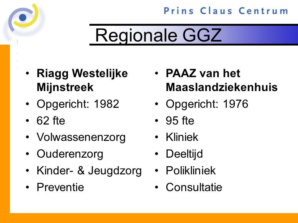 Regionale GGZ Riagg Westelijke Mijnstreek Opgericht: 1982 62 fte
