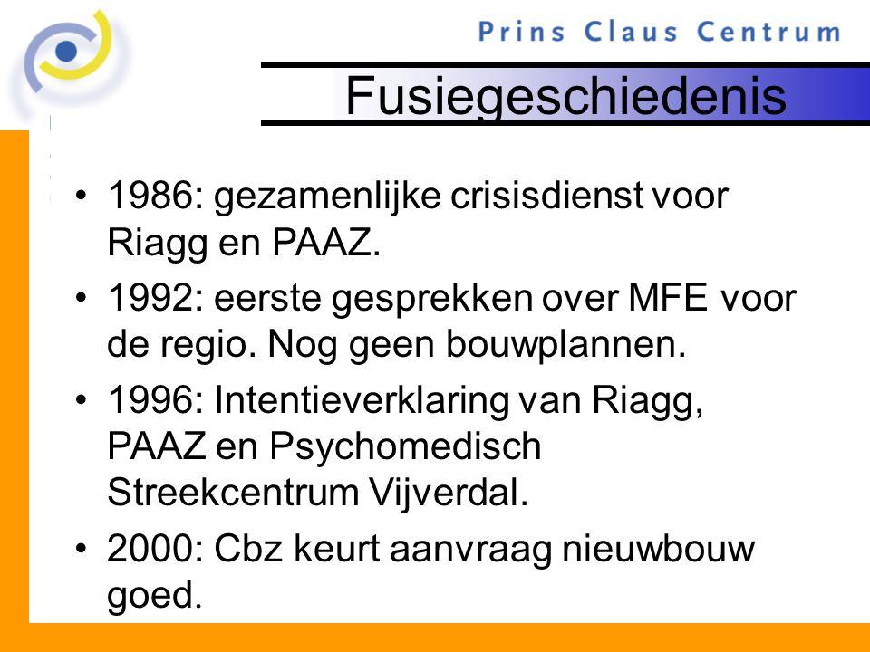 Fusiegeschiedenis 1986: gezamenlijke crisisdienst voor Riagg en PAAZ.