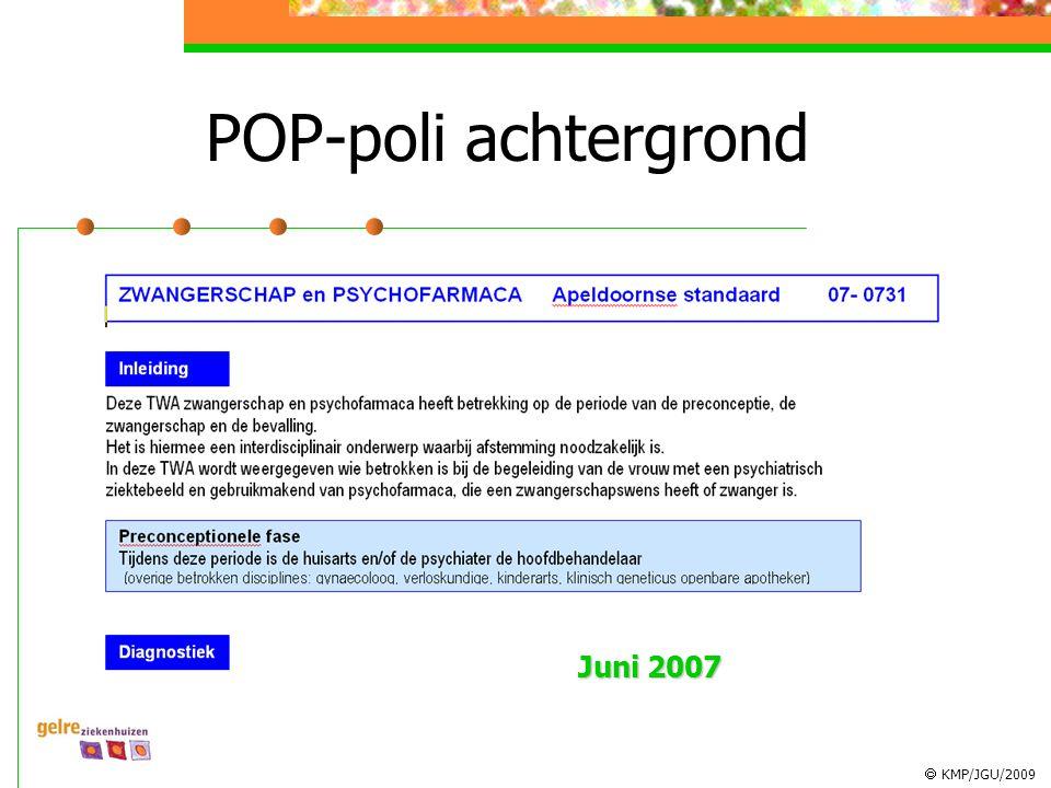POP-poli achtergrond Juni 2007