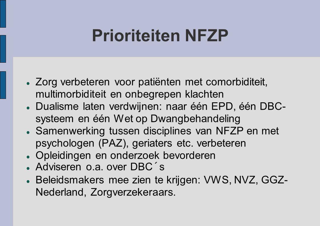 Prioriteiten NFZP Zorg verbeteren voor patiënten met comorbiditeit, multimorbiditeit en onbegrepen klachten.