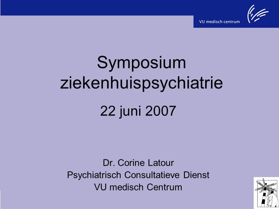 Symposium ziekenhuispsychiatrie