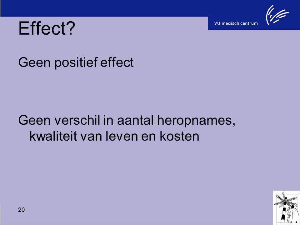 Effect Geen positief effect