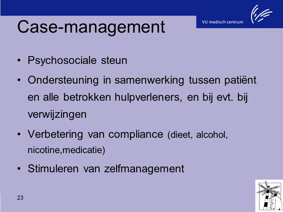 Case-management Psychosociale steun