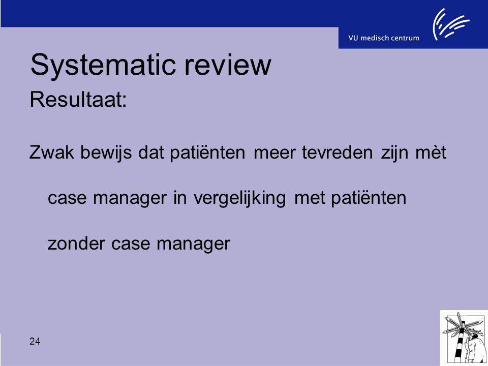 Systematic review Resultaat: